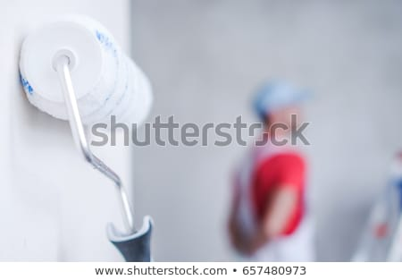 profissional · pintor · janela · casa · edifício · homem - foto stock © Hofmeester