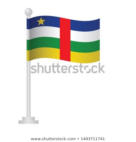 центральный · африканских · республика · флаг · старые · Vintage - Сток-фото © tashatuvango