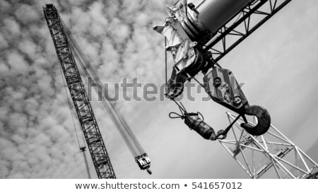 Grue deux hommes permanent fer bars Photo stock © rudall30