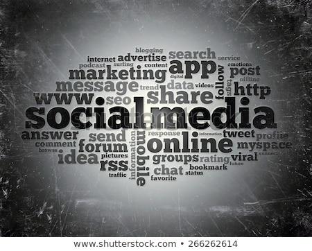 Social Media  - Grunge Wordcloud Concept. Stock photo © tashatuvango