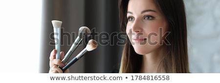 kép · csinos · női · néz · tükör · nő - stock fotó © pressmaster