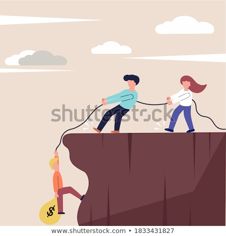 Stock photo: Fiscal Cliff Concept in Flat Design.
