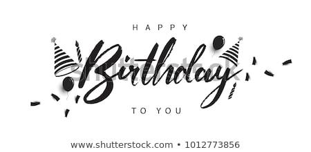 kleurrijk · gelukkige · verjaardag · kaarsen · roze · partij · ontwerp - stockfoto © frameangel