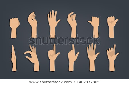 Mains gestes illustrations main Palm signe Photo stock © Slobelix
