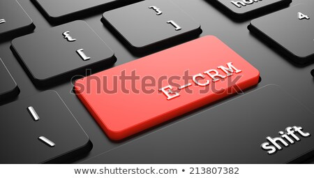 E-CRM on Red Keyboard Button. Stock photo © tashatuvango
