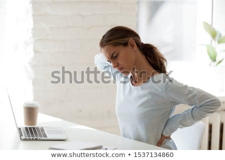 mijn · nek · meisje · lijden · pijn - stockfoto © novic