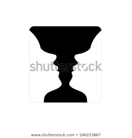 Gezichten vaas illusie twee zoals vrouw Stockfoto © shawlinmohd