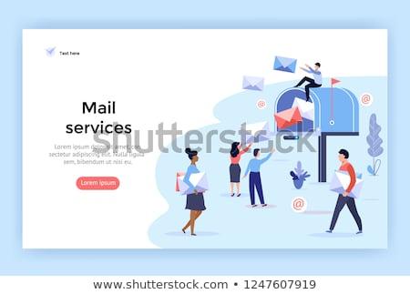 Mail correspondencia vector ilustración aislado blanco Foto stock © Mr_Vector