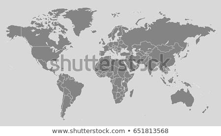 Stock photo: North and South America, Europe, Africa Global World