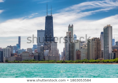 Chicago · şehir · merkezinde · Cityscape · sabah · gökyüzü · su - stok fotoğraf © andreykr