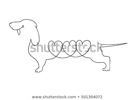 Tacskó eredeti művészet sziluett vektor sziluettek Stock fotó © tiKkraf69