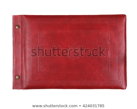 Leather photo album isolated on white background Stock photo © siavramova