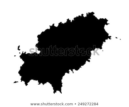 Stok fotoğraf: Harita · yeşil · mavi · seyahat · ada · vektör