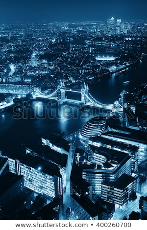 B&W image of Tower Bridge and river Thames in London Stock photo © Joningall
