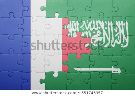 france and saudi arabia flags in puzzle stock photo © istanbul2009