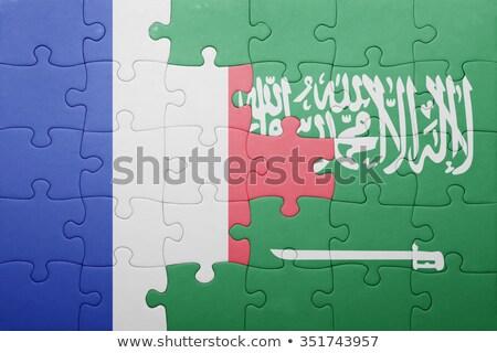 フランス サウジアラビア フラグ パズル ベクトル 画像 ストックフォト © Istanbul2009