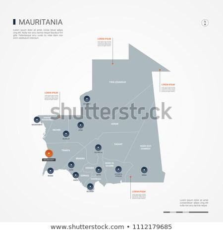 オレンジ ボタン 画像 マップ モーリタニア フォーム ストックフォト © mayboro