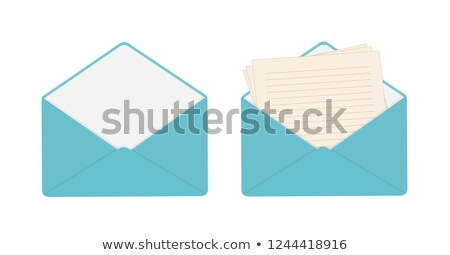 Blank Envelope Blue Lining Invitation Letter Opening Message Stock photo © iqoncept