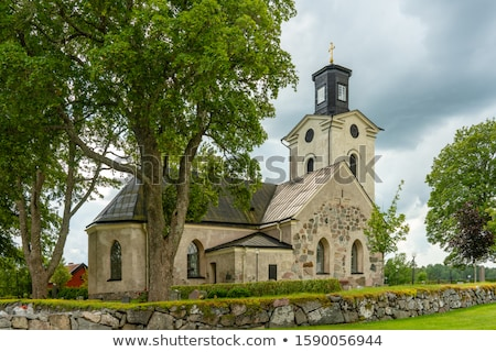 Ancient swedish church Stock photo © olandsfokus