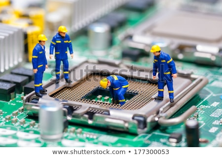 Group of Technicians repairing CPU. Technology concept Stock photo © Kirill_M