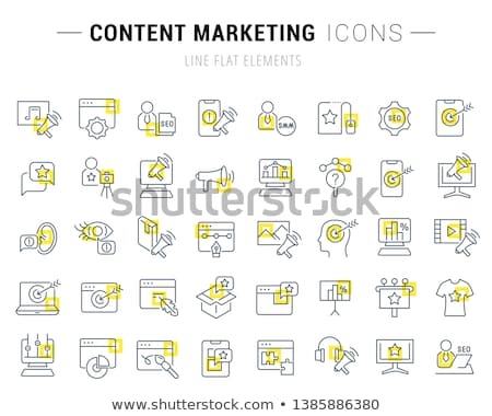 social internet square vector yellow icon design set stock photo © rizwanali3d