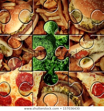 нездоровой · пищи · торговых · диета · жирный · жареный - Сток-фото © lightsource