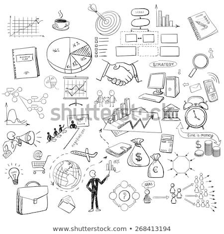 Mano elaborar garabato web gráficos negocios Foto stock © netkov1