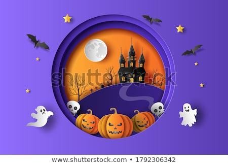 Halloween venta tienda banner mujer noche Foto stock © carodi