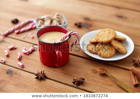 Karácsony csendélet sütik kekszek bambusz szalvéta Stock fotó © tatiana3337