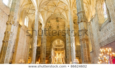 Ceiling In The Jeronimos Monastery Stock photo © searagen