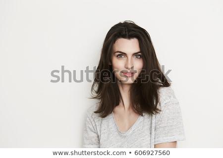 Mode brunette femme studio jeunes posant Photo stock © oleanderstudio