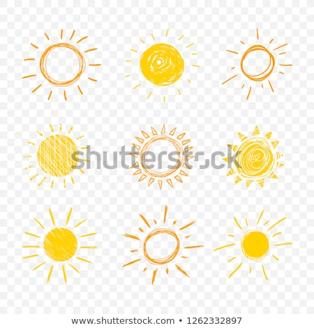 Sun icon drawn in chalk. Stock photo © RAStudio