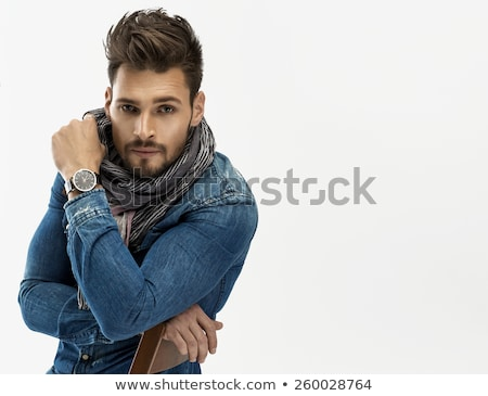 Legal janota casual jeans roupa olhando Foto stock © feedough