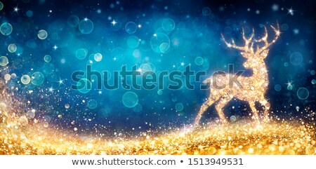 christmas magic deer stock photo © -baks-
