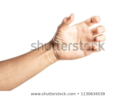 human hand holding a bottle of water isolated on white stock photo © tetkoren