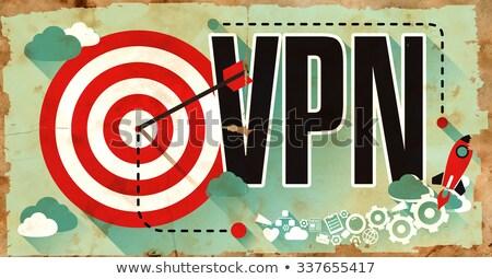 VPN on Grunge Poster. Stock photo © tashatuvango