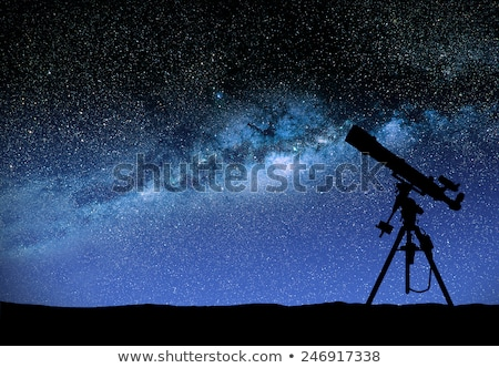 telescopio · viendo · manera · ilustración · cielo · mundo - foto stock © sdecoret