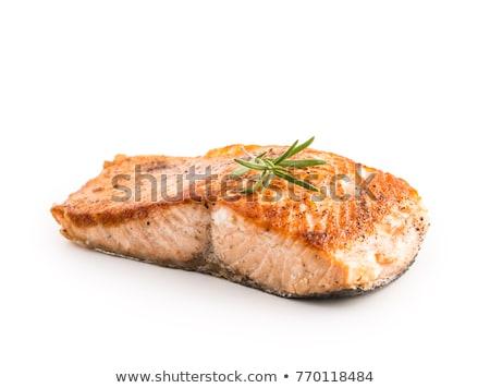Zalm vis barbecue koken voedsel zomer Stockfoto © Kurhan