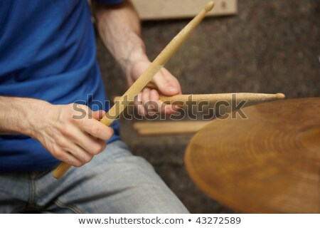 Boom sticks in hands of drummer stock photo © Paha_L