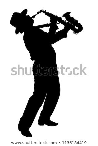 ベクトル 男 演奏 サクソフォン コンサート 色 ストックフォト © Morphart