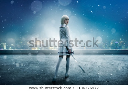 woman with sword, cosplay Stock photo © godfer