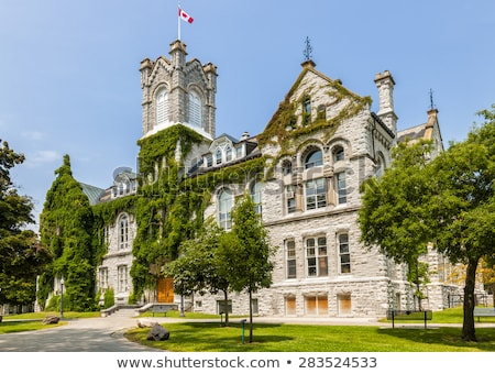 queens university theological hall building stock photo © elenaphoto