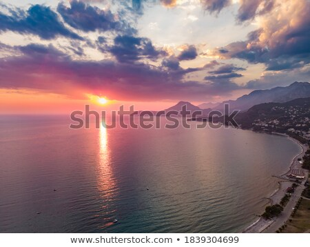 Top view of the seacoast of Budva, Montenegro Stock photo © vlad_star