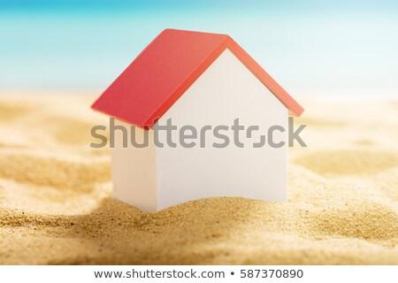 Huis zomervakantie huren illustratie strand zee Stockfoto © adrenalina