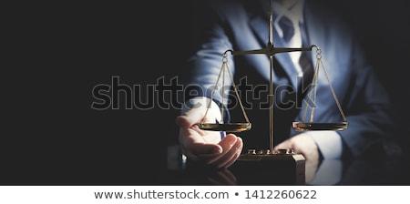 Przestępczości kara banery ikona plakat Zdjęcia stock © -TAlex-