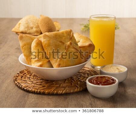Hús asztal üdítő narancslé reggeli Stock fotó © paulovilela