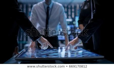 biznesmen · domina · efekt · działalności · strony · łańcucha - zdjęcia stock © lightsource