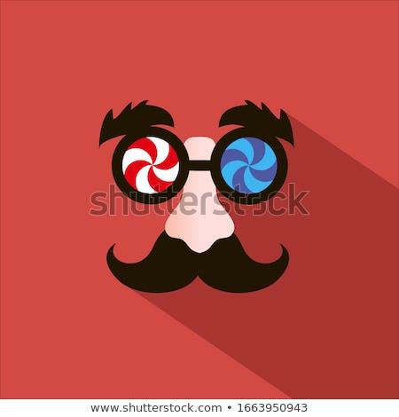 Engraçado óculos nariz superfície preto Foto stock © orensila
