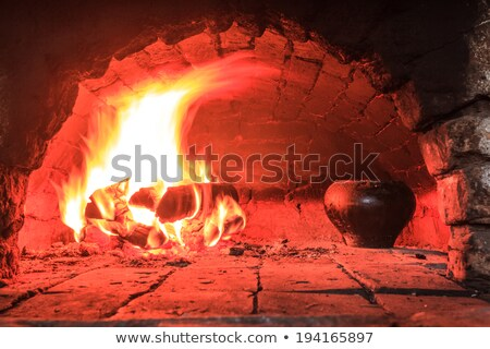 live coals in the oven Stock photo © olykaynen