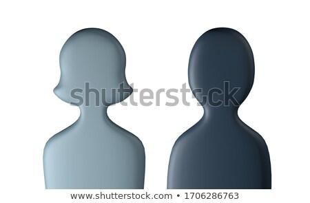 Salgın sembolik insanlar 3d illustration ayakta Stok fotoğraf © grechka333